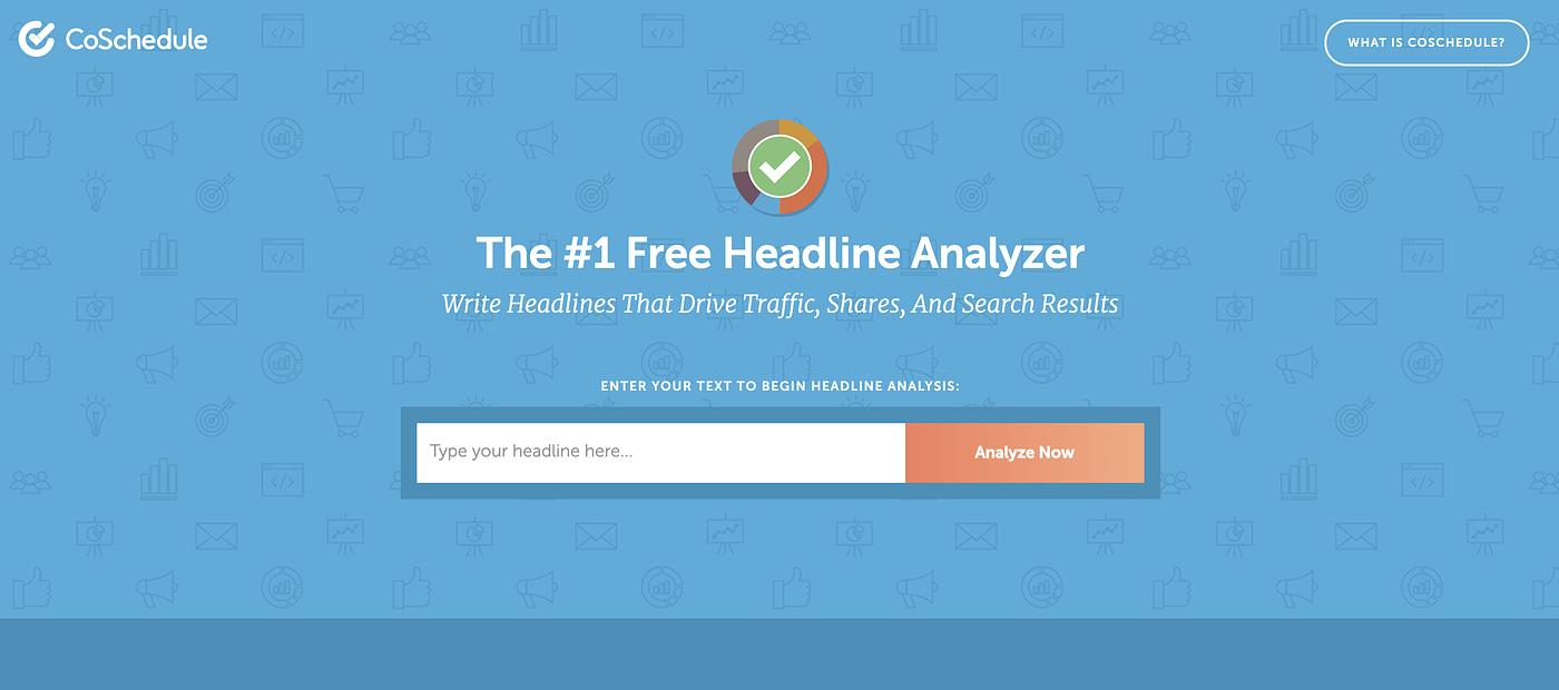 Headline Analyser